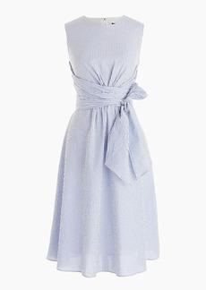 J.Crew Tie-waist seersucker dress