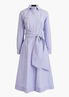 J.Crew Tie-waist shirtdress in end-on-end cotton