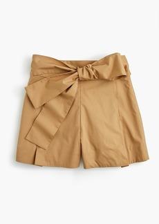J.Crew Tie-waist short in cotton poplin