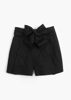J.Crew Tie-waist short in cotton poplin