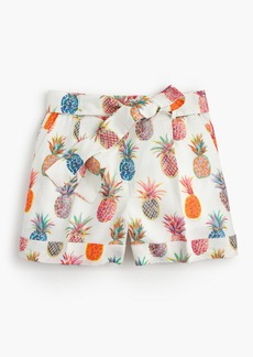 J.Crew Tie-waist short in Ratti® painted pineapple