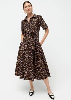 J.Crew Tie-waist short-sleeve dress in leopard