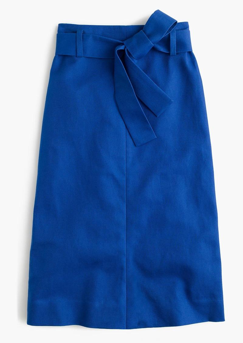 de8987471fa5 J.Crew Tie-waist skirt in cotton-linen | Skirts