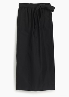 Tie-waist skirt in faille