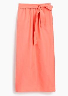 Tie-waist skirt in faille