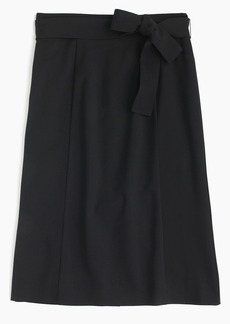 J.Crew Tie waist skirt in Italian stretch wool
