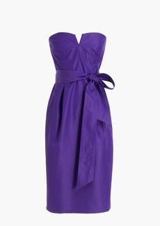 J.Crew Tie-waist strapless dress in faille