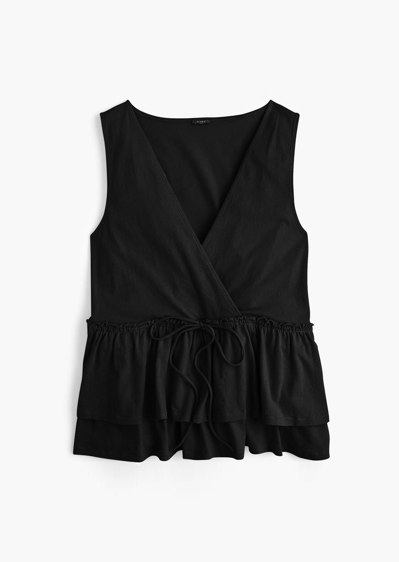 J.Crew Tie-waist tiered tank top