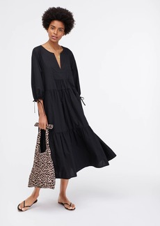 J.Crew Tiered beach maxi dress