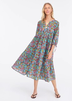 J.Crew Tiered beach maxi dress in island floral print