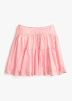 J.Crew Petite tiered cotton voile mini skirt