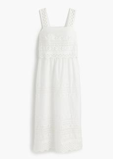 Tiered eyelet midi dress