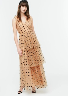 J.Crew Tiered halter dress in dot tulle
