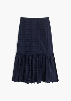 Tiered scalloped skirt in eyelet