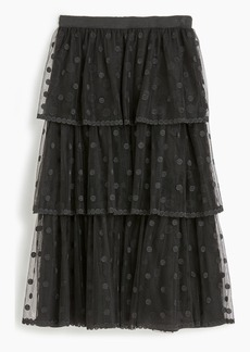 J.Crew Tiered skirt in polka-dot embroidered tulle