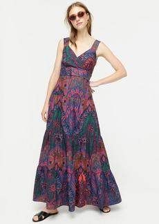 J.Crew Tiered sleeveless maxi dress in Ratti® scarf paisley