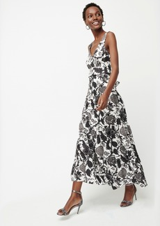 J.Crew Tiered sleeveless maxi dress in Ratti® scarf paisley