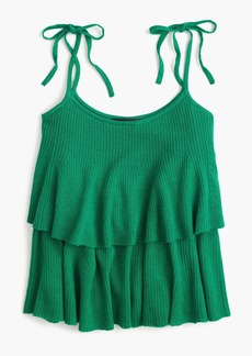 J.Crew Tiered top in merino wool