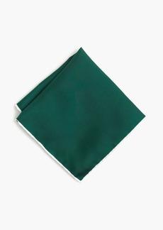 J.Crew Tipped Italian silk pocket square in blue