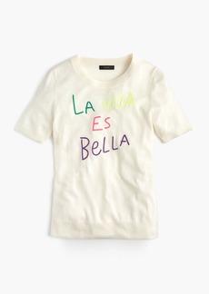 "J.Crew Tippi short-sleeve sweater in ""La Vida Es Bella"""