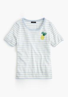 J.Crew Tippi short-sleeve sweater in pineapple stripe