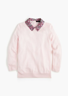 J.Crew Tippi sweater with Liberty® collar