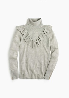 J.Crew Tippi turtleneck sweater with ruffles
