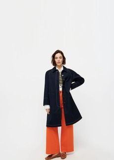J.Crew Trench coat with contrast topstitch