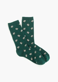 J.Crew Trouser socks in gingerbread man