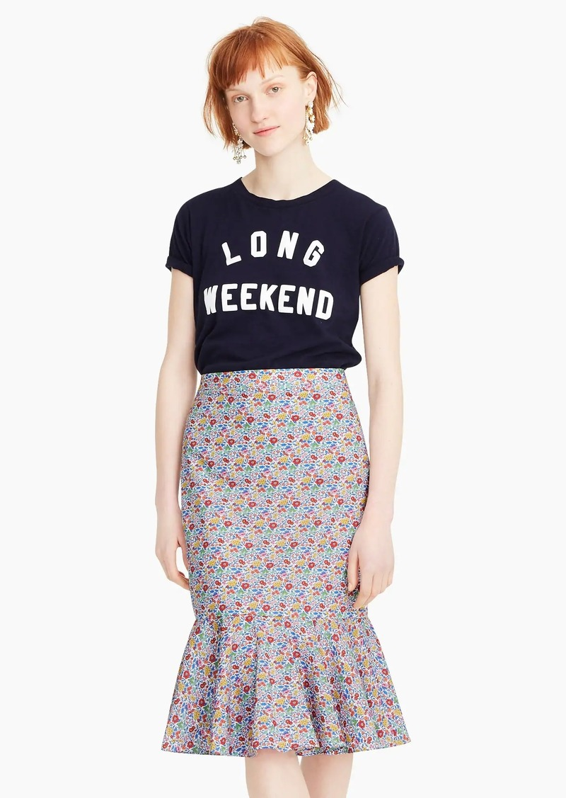 J.Crew Trumpet skirt in Liberty® Favourite Flowers