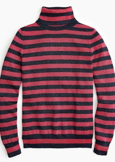 J.Crew Turtleneck sweater in sparkle stripe