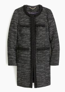 J.Crew Tweed Lurex® lady coat with braided trim