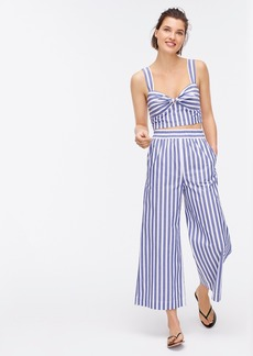 J.Crew Twist-front cropped top in awning stripe