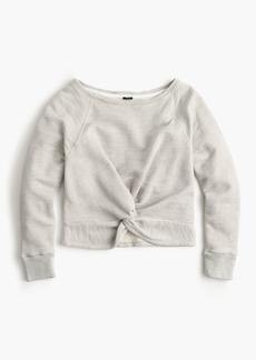 Twist-front sweatshirt