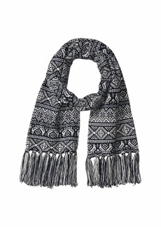 J.Crew Two Color Fair Isle Tassel Scarf
