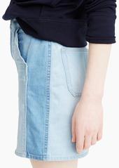 J.Crew Two-tone denim mini skirt