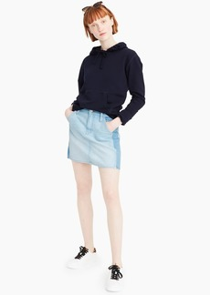 J.Crew Two-tone denim mini skirt