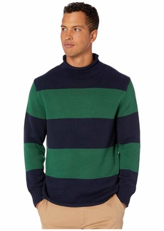 J.Crew Unisex 1988 Cotton Striped Rollneck Sweater
