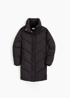 Universal Standard for J.Crew chevron puffer coat