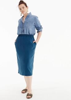 Universal Standard for J.Crew Cupro shirred midi skirt