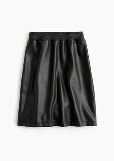 Universal Standard for J.Crew faux-leather mini skirt