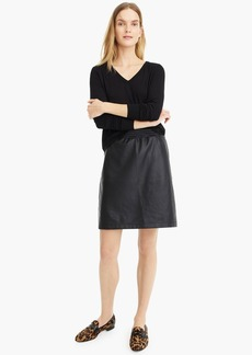 Universal Standard for J.Crew faux-leather mini skirt