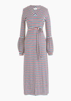 Universal Standard for J.Crew jersey long-sleeve maxi dress in stripe