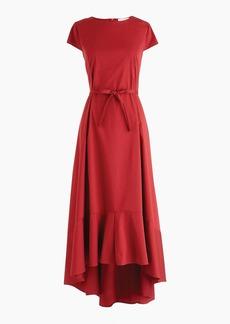 Universal Standard for J.Crew poplin high-low maxi dress