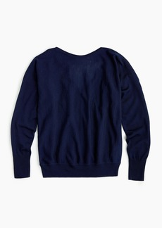 J.Crew V-back pullover sweater in merino wool