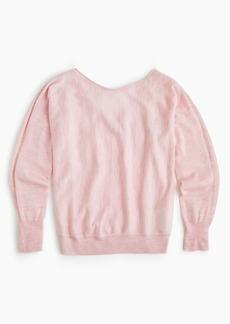 J.Crew V-back pullover sweater in merino wool