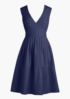 V-neck A-line dress in faille