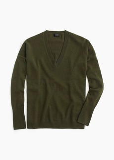 J.Crew V-neck Boyfriend sweater in everyday cashmere