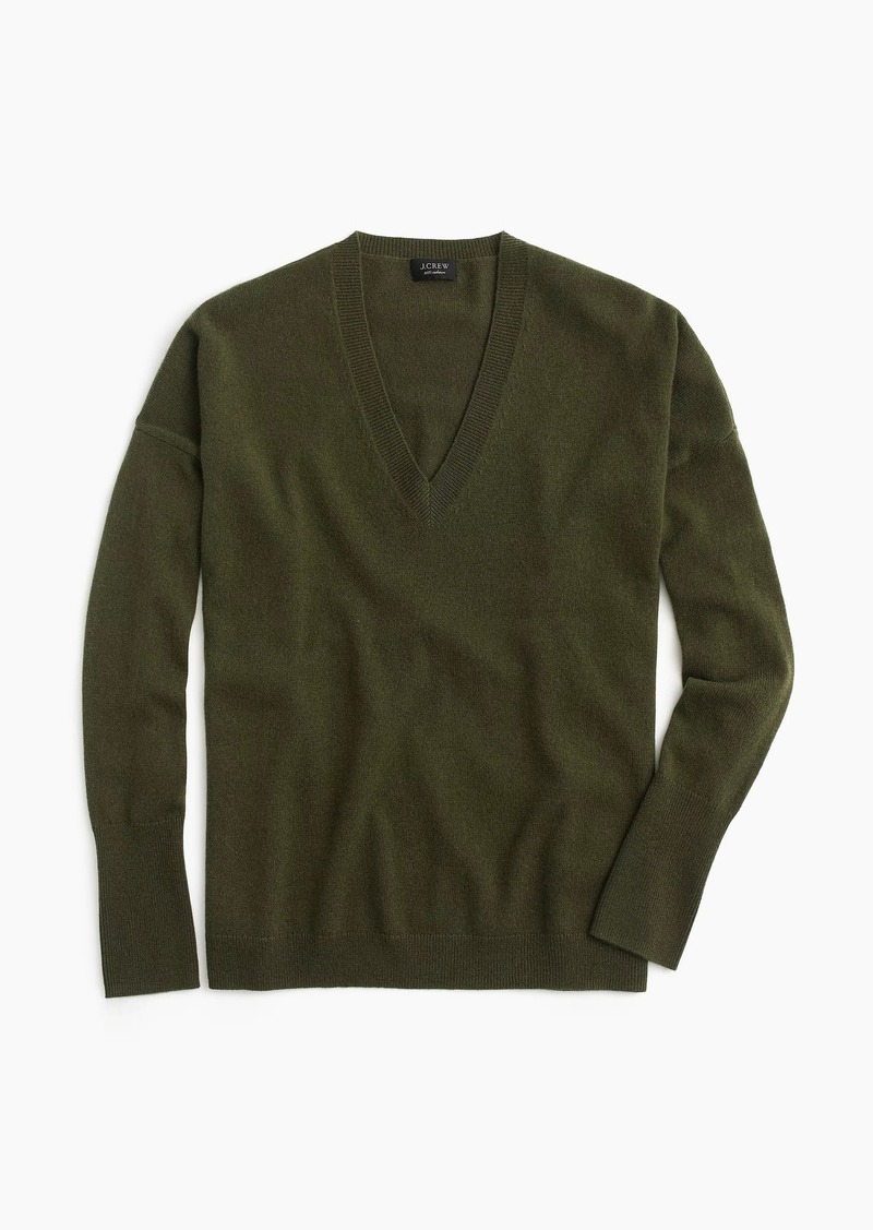 a633863de7cd J.Crew V-neck Boyfriend sweater in everyday cashmere