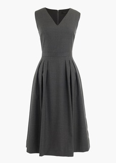 V-neck dress in Super 120s wool
